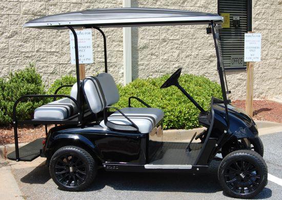 toyota black 2008 ezgo refurbished johns golf cars. Black Bedroom Furniture Sets. Home Design Ideas